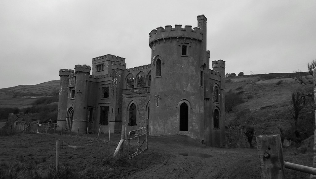 Clifden castle - front view