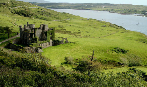Clifden castle in colour