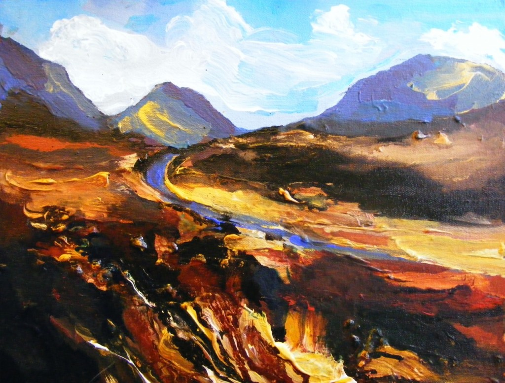 Last stage Connemara Loop Painting