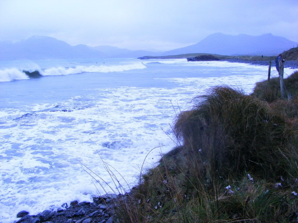 The edges of White strand beach