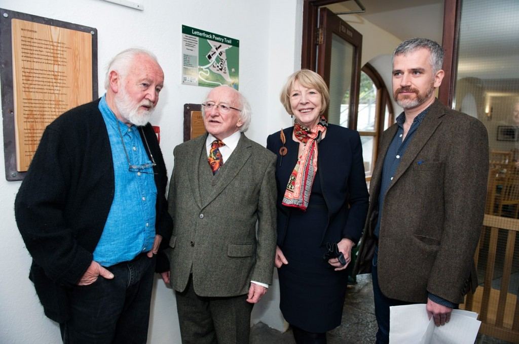 President Higgins launches the poetry trail
