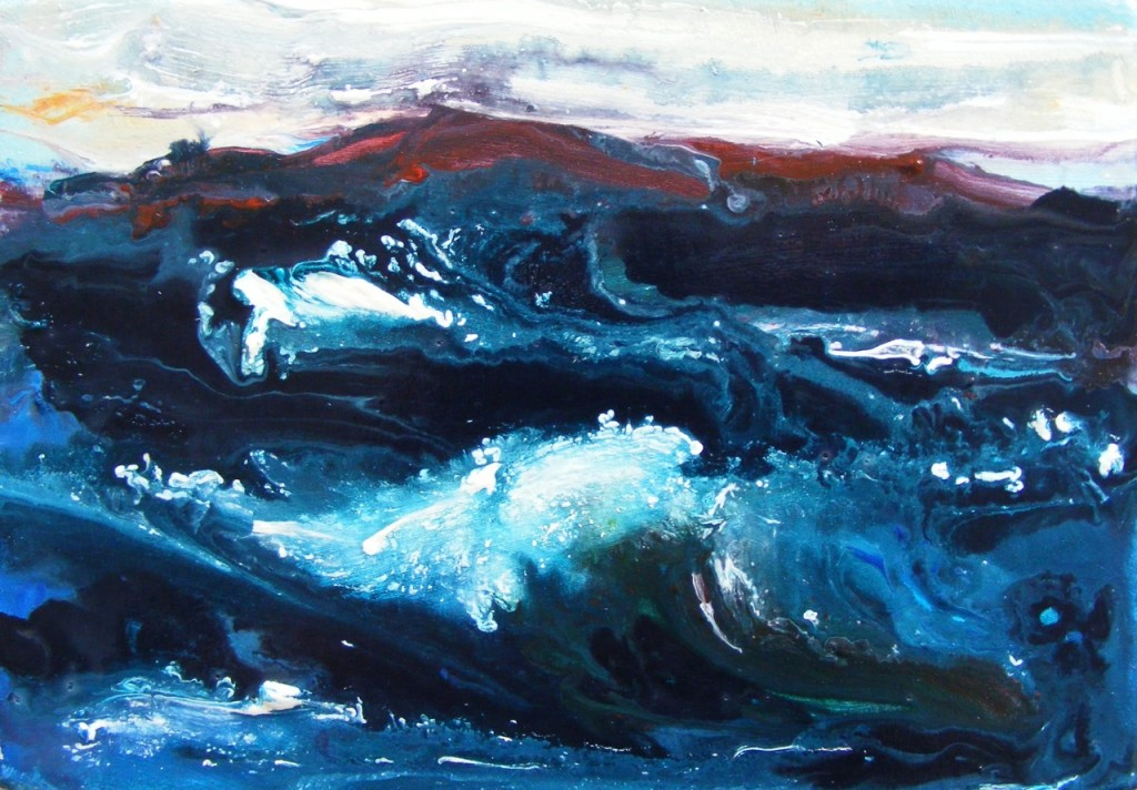 Steel Blue Swell by Deborah Watkins