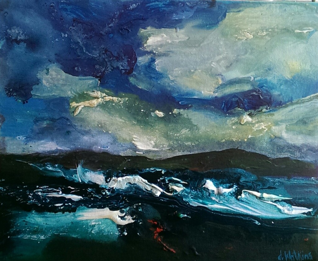 Seascape with wild sky
